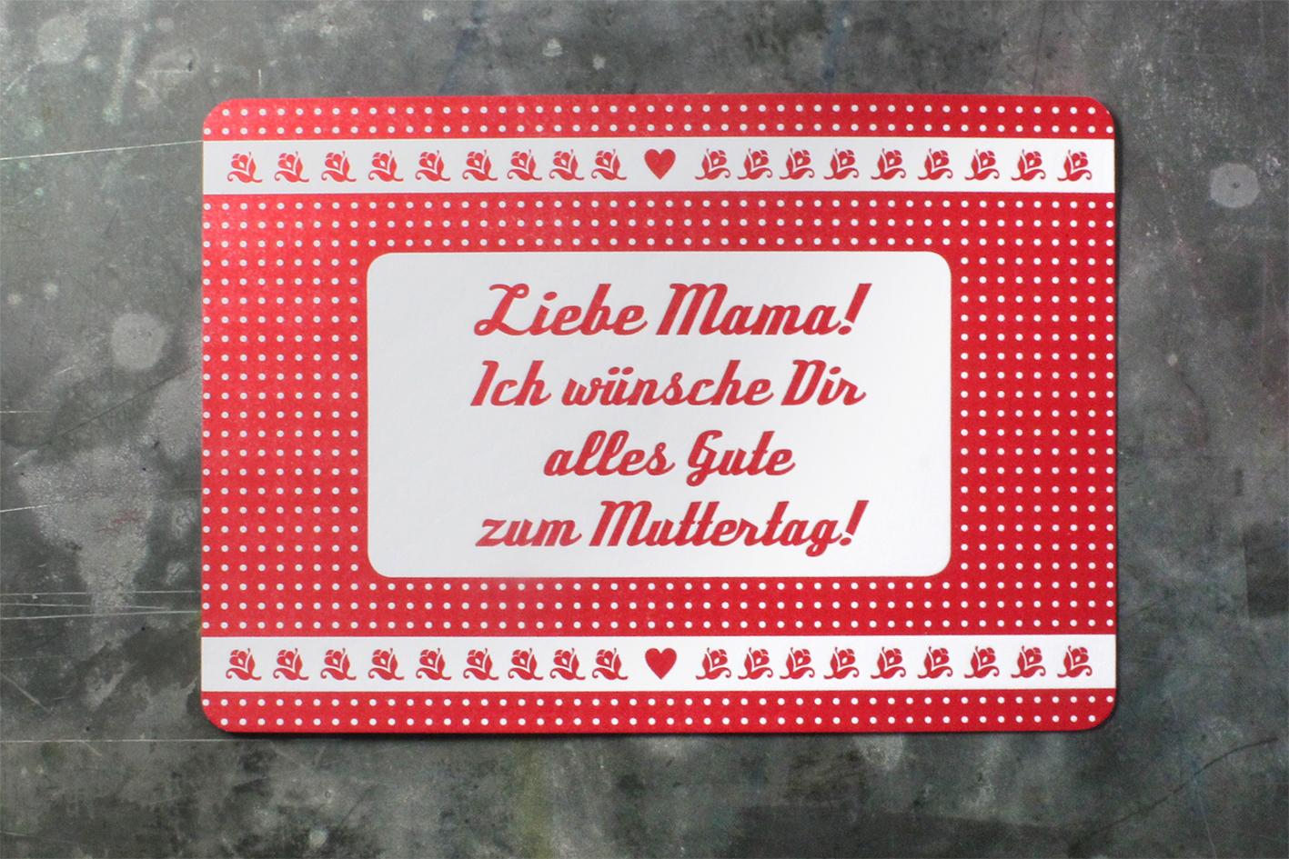 Karte Letterpress Muttertag Buchdruck