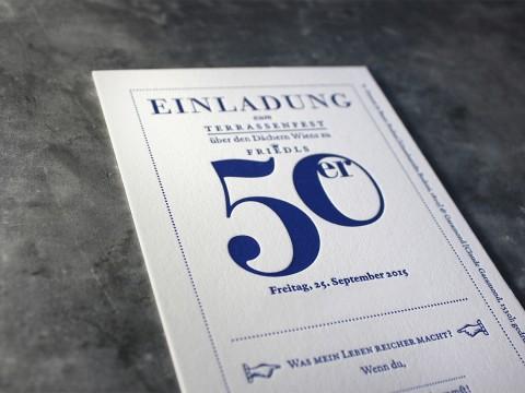 Geburtstagseinladung Einladung Geburtstag Baumwollpapier 710 g Letterpress Buchdruck Heidelberger Tiegel