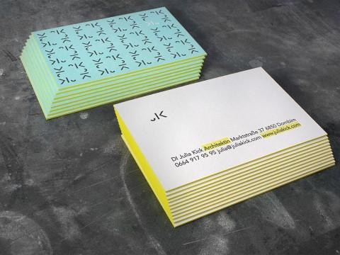 Visitenkarten Letterpress Farbschnitt Buchdruck Baumwollpapier