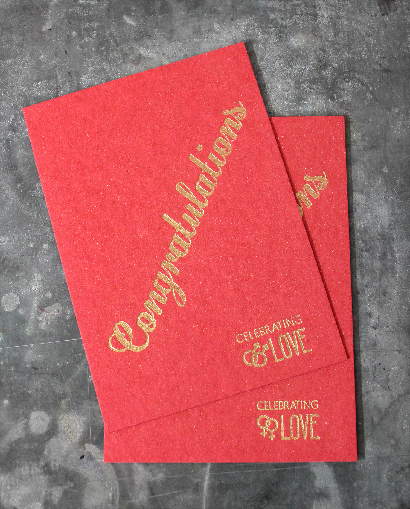 Letterpress Buchdruck Recyclingkarton Gold Verpartnerung Hochzeit Heirat Ehelichung