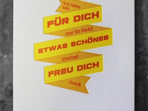 Billet Gutschein Letterpress Buchdruck Baumwollpapier
