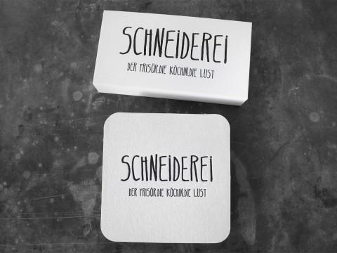 Bierdeckel Visitenkarten Letterpress Buchdruck Baumwollkarton Coaster