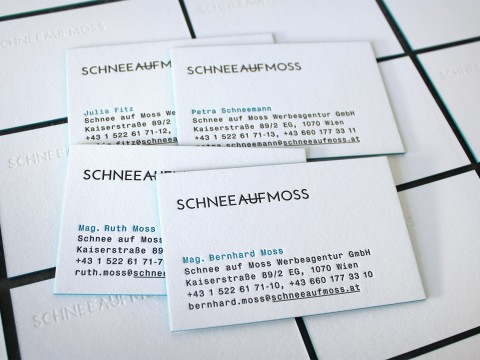 Visitenkarten Letterpress Farbschnitt Buchdruck Baumwollpapier Blindprägung