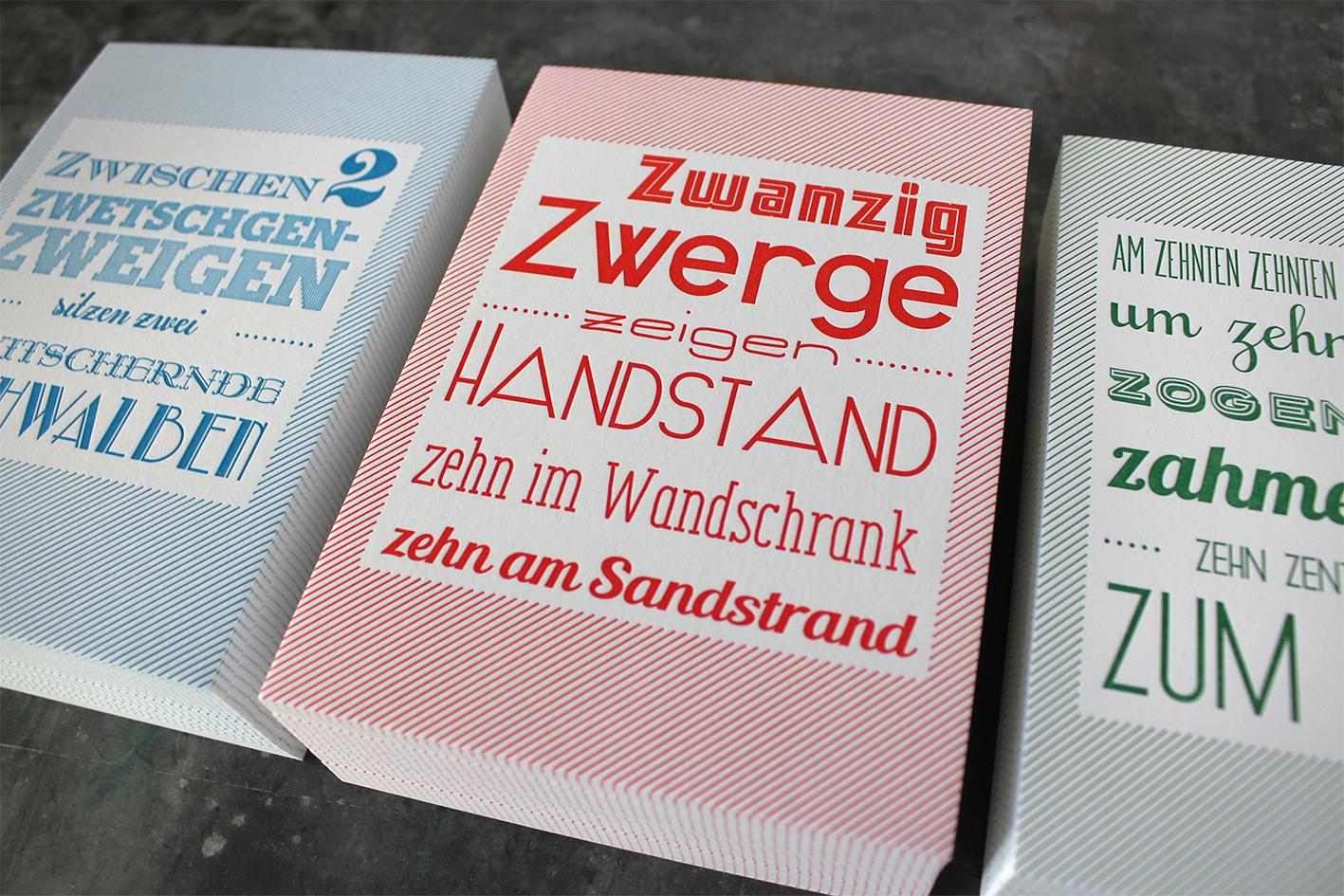 Karte Baumwollpapier Letterpress Buchdruck Wien Heidelberger Tiegel Handwerk