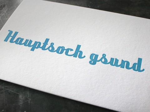 Billet Letterpress Wien Buchdruck Baumwollpapier Gesundheit