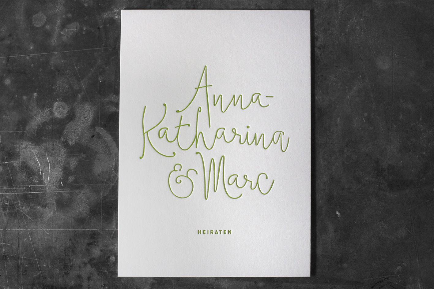 Buchdruck Letterpress Gmund Cotton Baumwollpapier Wien Grammatur Papierdicke Hochzeit Hochzeitseinladung drucken Einladung außergewöhnlich