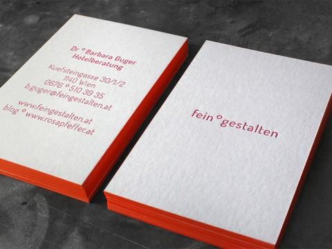 Letterpress Buchdruck Wien hochwertig außergewöhnlich Farbschnitt