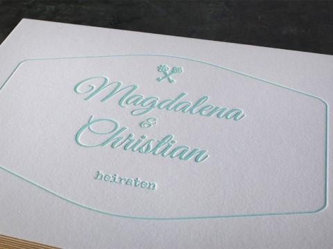 Letterpress Buchdruck Baumwollpapier Farbschnitt Goldschnitt hochwertig Hochzeitseinladung Einladung Hochzeit außergewöhnlich ausgefallen Schreibschrift exklusiv