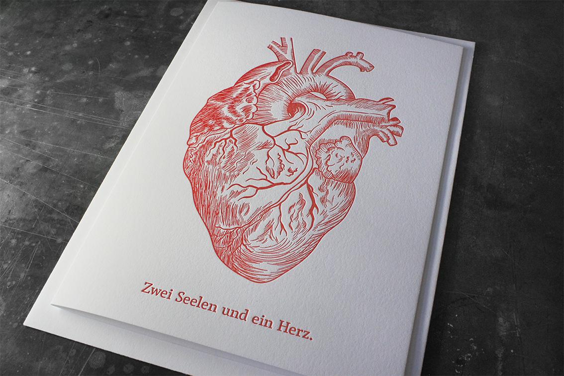 Letterpress Buchdruck außergewöhnlich besonders Hochzeit Einladung Hochzeitseinladung Baumwollpapier Prägung ausgefallen Tiefprägung haptisch exklusiv besonders