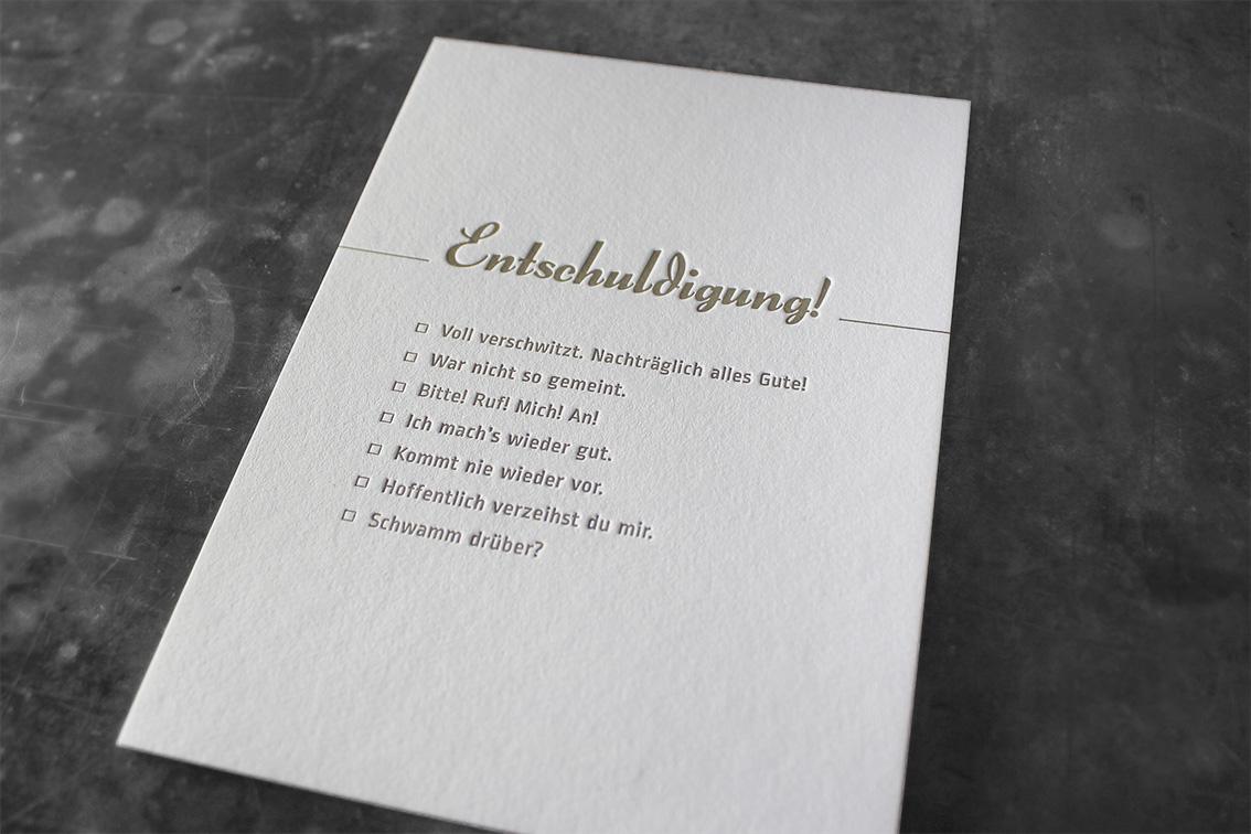 Letterpress Buchdruck Prägedruck Gmund Heidi Wien Tiefprägung