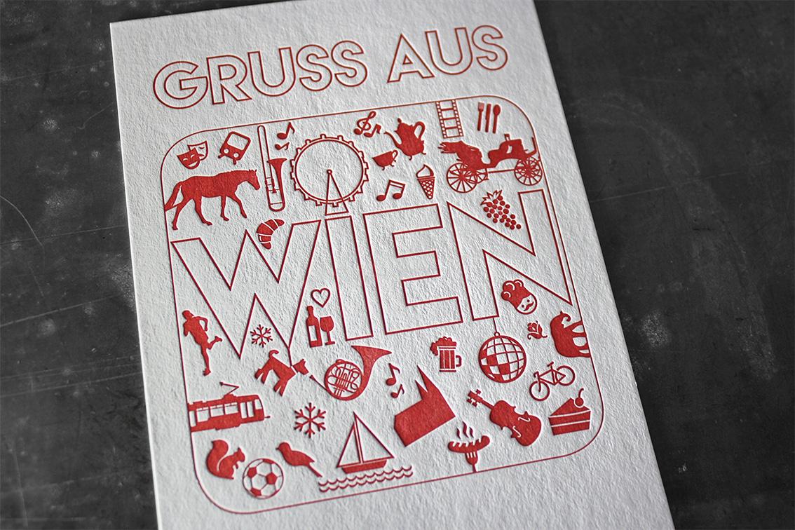 Grußkarten Letterpress hochwertig außergewöhnlich Prägedruck Tiefprägung Wien Gmund Heidi Baumwollpapier