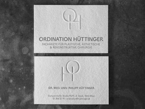 Visitenkarten Letterpress Business Cards hochwertig außergewöhnlich Wien Blindprägung ausgefallen